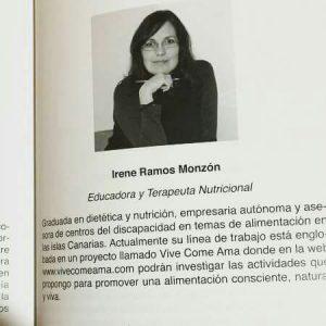 Irene Ramos Monzón: educadora y terapeuta nutricional