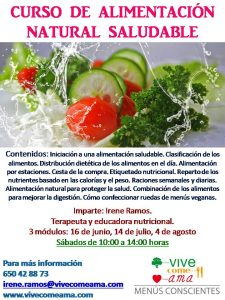 CURSO DE ALIMENTACIÓN NATURAL SALUDABLE